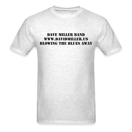 Dave Miller Band Standard Weight Grey T-Shirt without Harmonica - Men's T-Shirt