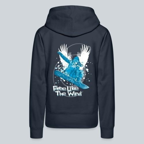 Boarder Girl Sweatshirt - Women's Premium Hoodie