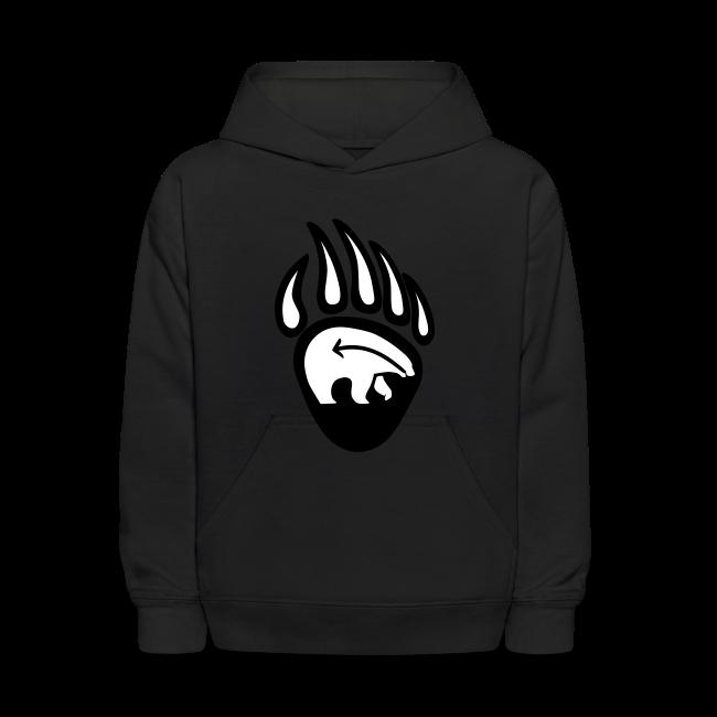 Tribal Bear Kid's Hoodie First Nations Sweatshirt