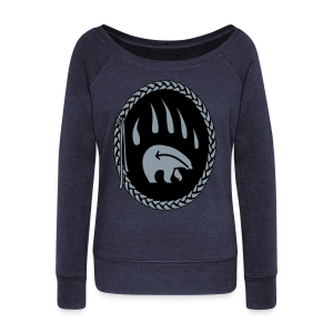 First Nations Bear Shirt Women's Long Sleeve - Women's Wideneck Sweatshirt