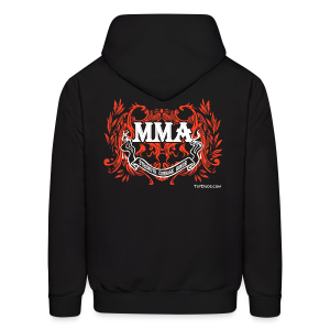 MMA - Strength Courage Honor Hoodie - wb - Back  - Men's Hoodie