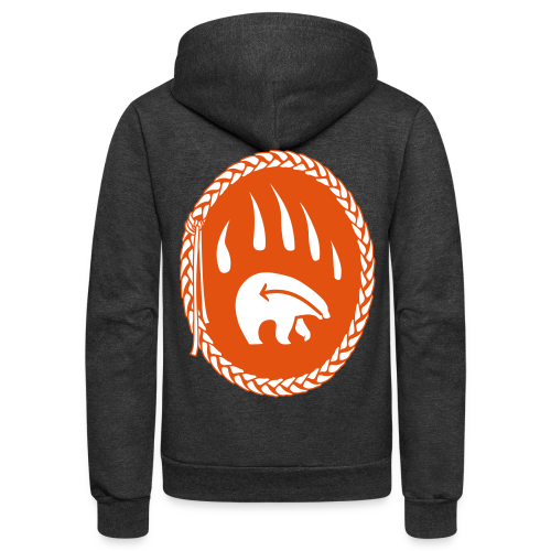 Tribal Bear Hoodie Men's First Nations Shirt - Unisex Fleece Zip Hoodie