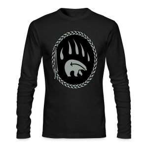 Tribal Bear Shirt Men's First Nations Shirt Long Sleeve - Men's Long Sleeve T-Shirt by Next Level
