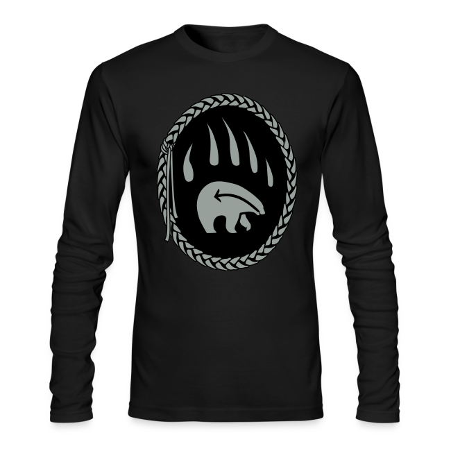 Tribal Bear Shirt Men's First Nations Shirt Long Sleeve