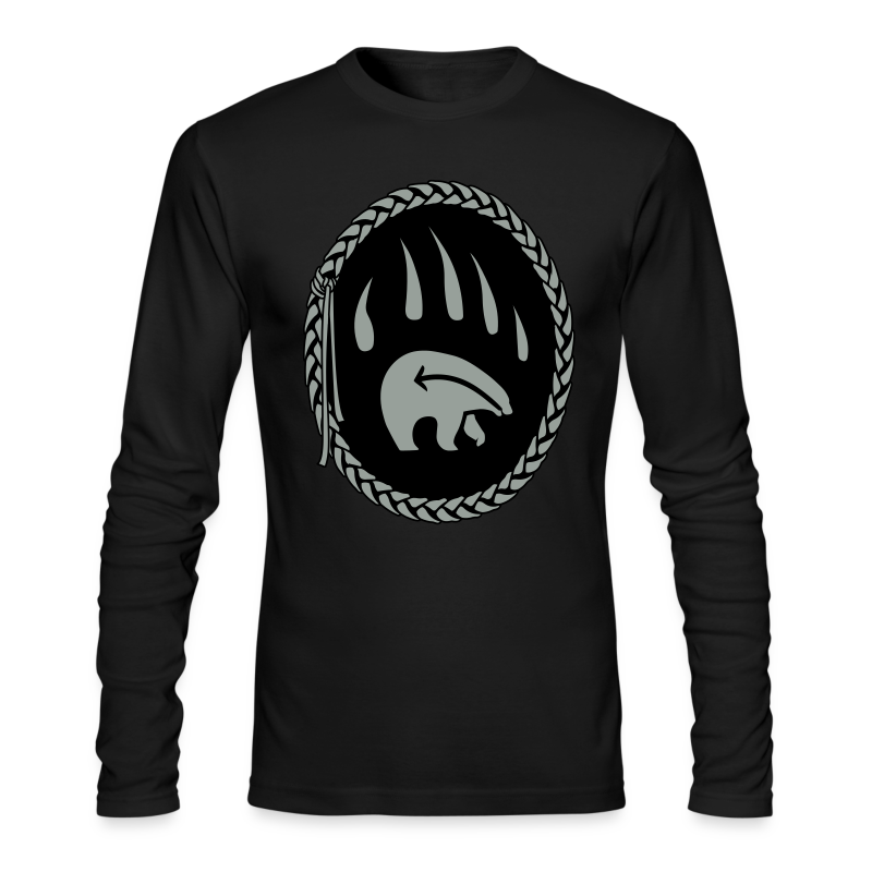 Tribal Bear Shirt Men's First Nations Shirt Long Sleeve - Men's Long Sleeve T-Shirt by Next Level