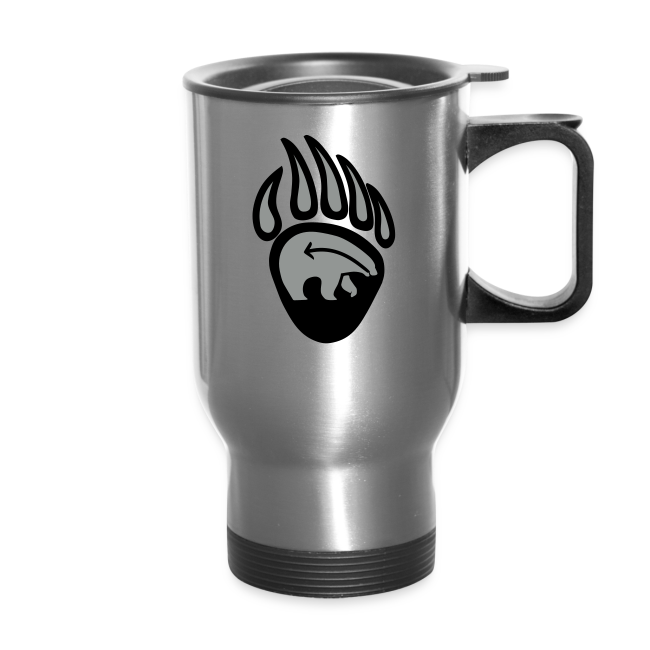 Tribal Bear Claw Travel Mugs First Nations Art