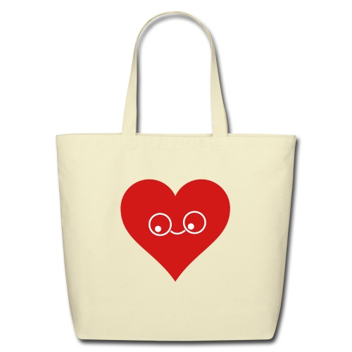 Eco-friendly heart bag and fashionable. - Eco-Friendly Cotton Tote