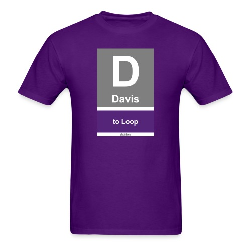 CTA Purple Line - Men's T-Shirt - Men's T-Shirt
