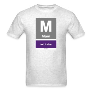 CTA Purple Line - Men's T-Shirt - Men's T-Shirt