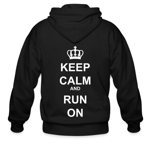 Keep Calm and Run On (mens) - Men's Zip Hoodie