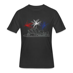New Year's Eve in Sydney: Fireworks at Opera house  - Men's 50/50 T-Shirt
