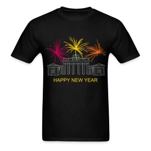Berlin fireworks New Year's Eve at the Brandenburg Gate. - Men's T-Shirt