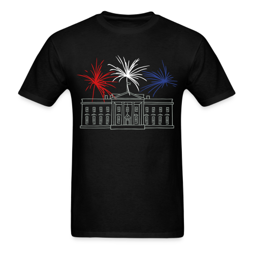 Fireworks at White House New Year's Eve in Washington - Men's T-Shirt