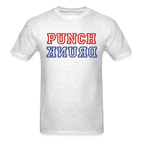 Punch Drunk: Red, White, and Blue (on gray) - Men's T-Shirt
