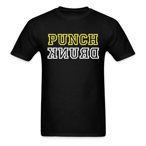 Punch Drunk: Black and Yellow Tee - Men's T-Shirt