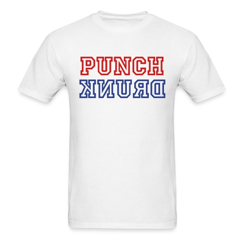 Punch Drunk: Red, White, and Blue - Men's T-Shirt