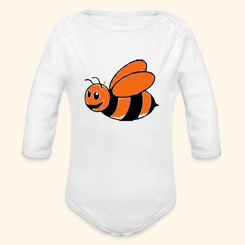baby bumble bee - Organic Long Sleeve Baby Bodysuit
