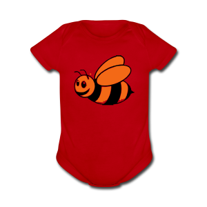 baby bumble bee - Short Sleeve Baby Bodysuit