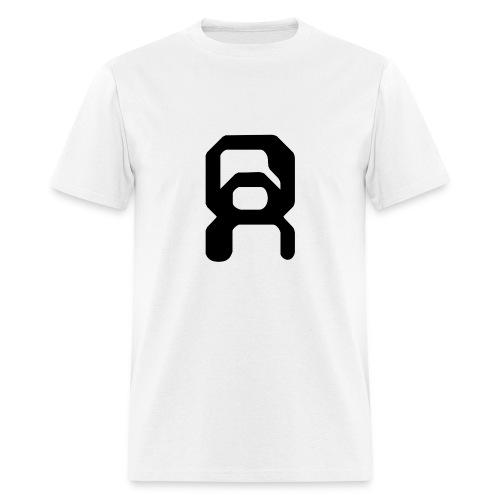 White Men's Shirt with Symbol - Men's T-Shirt