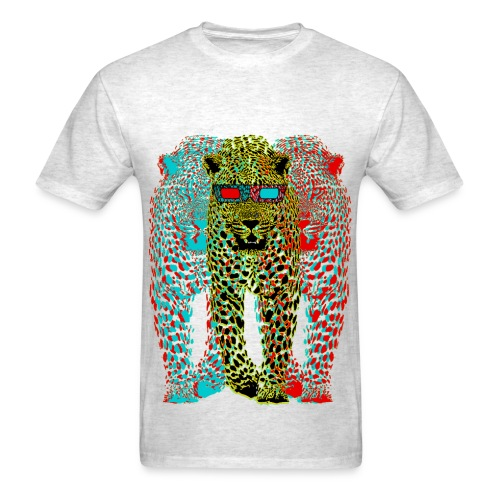 3D cheetah - Men's T-Shirt