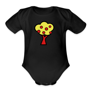 Fruit Tree - Short Sleeve Baby Bodysuit