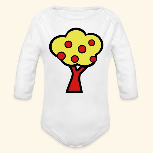 Fruit Tree - Organic Long Sleeve Baby Bodysuit