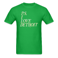 T-Shirts ~ Men's T-Shirt ~ P.S. I Love Detroit