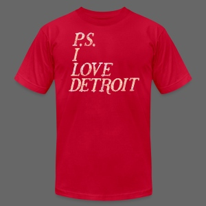 P.S. I Love Detroit - Men's T-Shirt by American Apparel