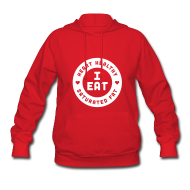 Hoodies ~ Women's Hoodie ~ I Eat Heart Healthy Saturated Fat (White)