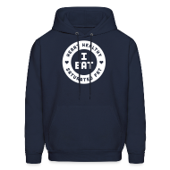 Hoodies ~ Men's Hoodie ~ I Eat Heart Healthy Saturated Fat (White)