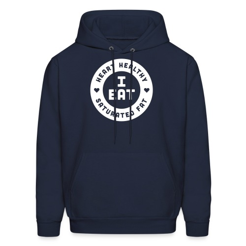 I Eat Heart Healthy Saturated Fat (White) - Men's Hoodie