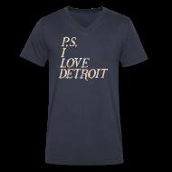 T-Shirts ~ Men's V-Neck T-Shirt by Canvas ~ P.S. I Love Detroit
