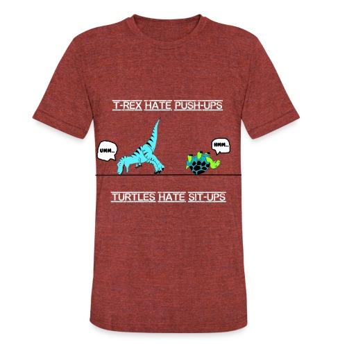 Trex hates pushups - Unisex Tri-Blend T-Shirt