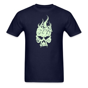 Glowing Skull - Men's T-Shirt