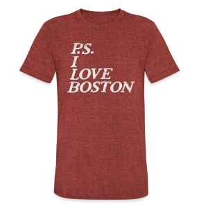 P.S. I Love Boston - Unisex Tri-Blend T-Shirt