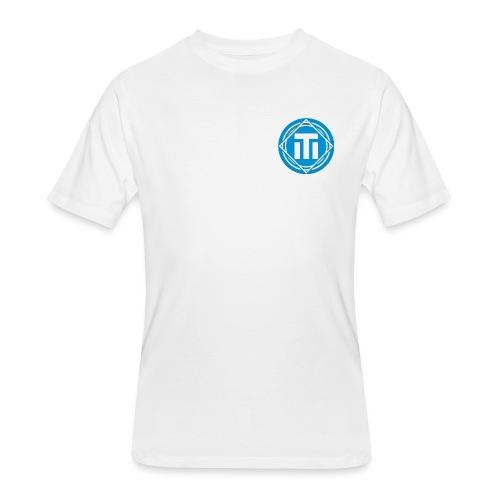 Blue Logo T-Shirt - Men's 50/50 T-Shirt