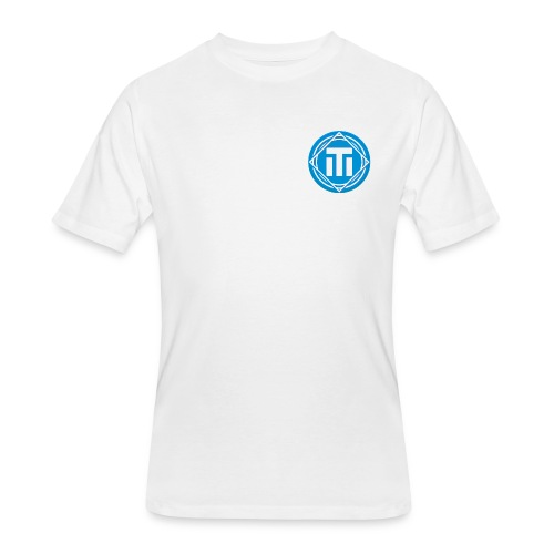 Blue Logo T-Shirt - Men's 50/50 T-Shirt