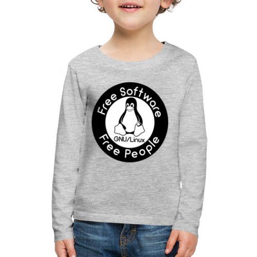 GNU/Linux - Kids' Premium Long Sleeve T-Shirt