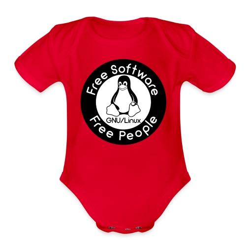 GNU/Linux - Organic Short Sleeve Baby Bodysuit