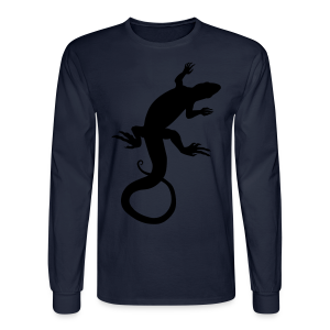 Lizard Art Shirt Men's Reptile Design - Men's Long Sleeve T-Shirt