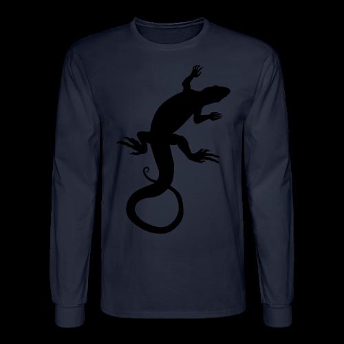 Lizard Art Shirt Men's Reptile Design - Men's Long Sleeve T-Shirt