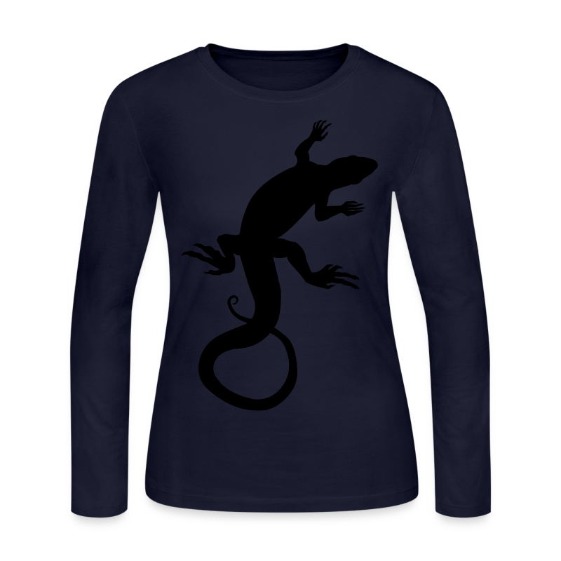 Lizard Art Shirt Women's Reptile Long Sleeve Shirts - Women's Long Sleeve Jersey T-Shirt