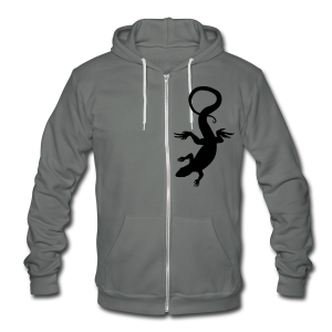 Lizard Hoodie Vintage Reptile Art Jacket - Unisex Fleece Zip Hoodie by American Apparel