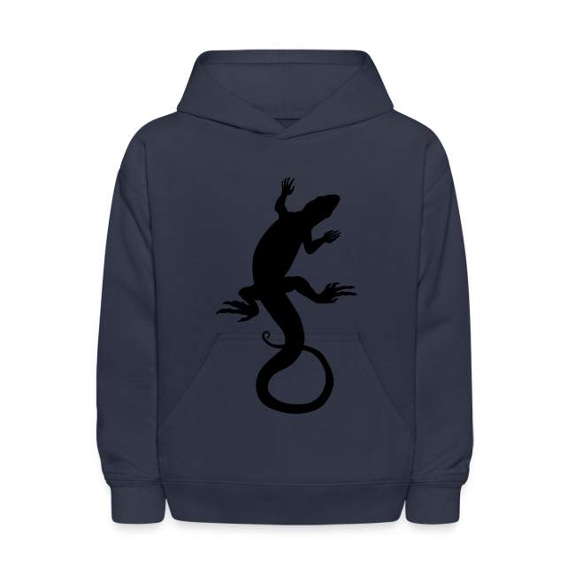 Kid's Lizard Art Hoodie Reptile Art Jacket
