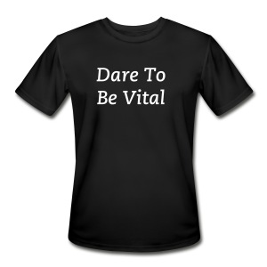 Dare To Be Vital Men's Dry Wicking Athletic Shirt - Men's Moisture Wicking Performance T-Shirt