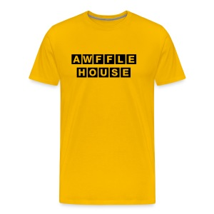 Awffle House Yellow [M] - Men's Premium T-Shirt