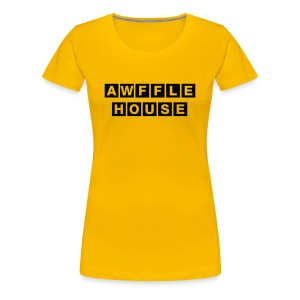 Awffle House Yellow [F] - Women's Premium T-Shirt