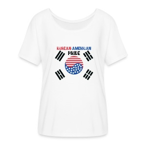 Korean-American Pride  - Women's Flowy T-Shirt