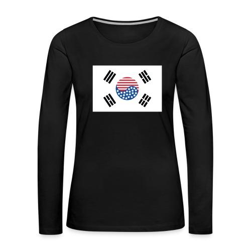 Korean American Pride / Heritage - Women's Premium Long Sleeve T-Shirt