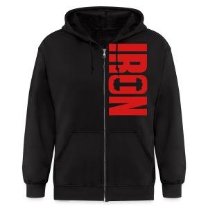 IRON - Men's Zip Hoodie
